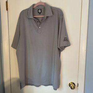 FOOTJOY XLarge Grey Striped Golf Polo Shirt
